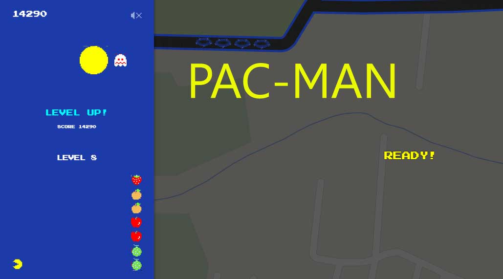 Play Pac-Man Game in Google Maps - Google Maps Easter Egg
