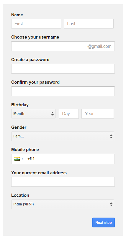 how to create a second gmail accounts
