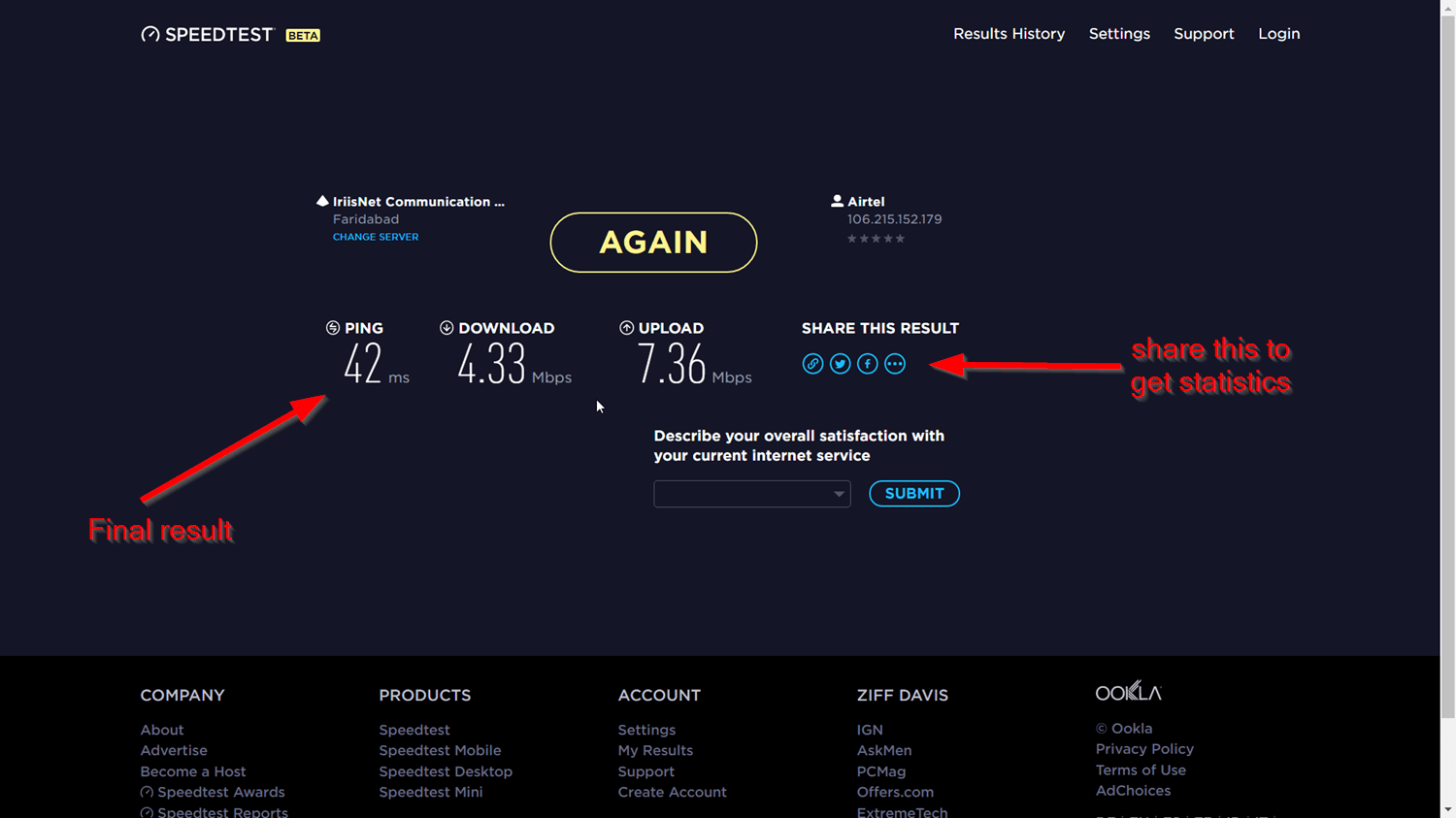 Internet Speed Test Sites - Check speed in seconds (2018 ...